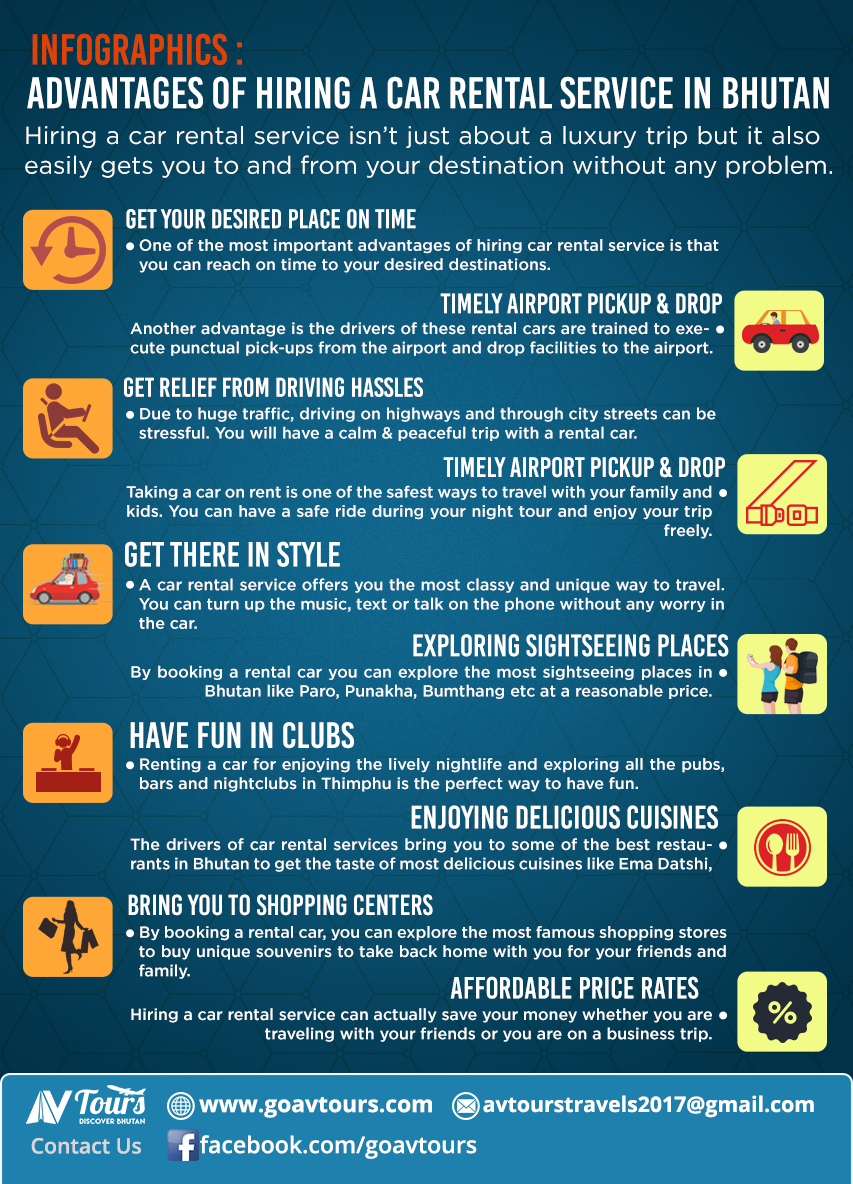Infographics- Advantages of Hiring a Car Rental Service in Bhutan