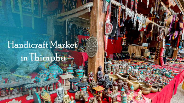 Handicraft Market in Thimphu