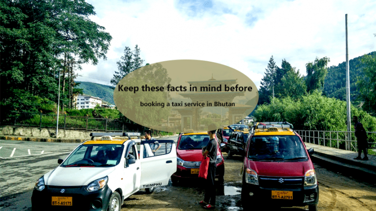 Taxi service in Bhutan
