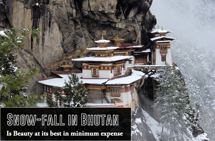 Snow-fall in Bhutan