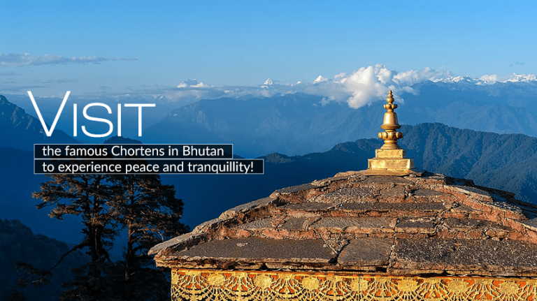 Visit the famous Chortens in Bhutan
